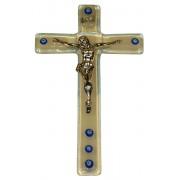 """Opal Murano Crucifix cm.9.5x16 - 3 3/4""""x 6 1/4"""""""