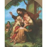"Jesus with Children High Quality Print cm.20x25- 8""x10"""