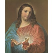 """Sacred Heart of Jesus High Quality Print with Gold cm.20x25- 8""""x10"""""""