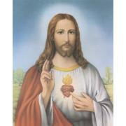 "Sacred Heart of Jesus High Quality Print cm.20x25- 8""x10"""