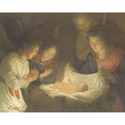 "Nativity High Quality Print with Gold cm.20x25- 8""x10"""