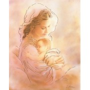 """Mother and Child High Quality Print with Gold cm.20x25- 8""""x10"""""""