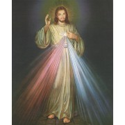 """Divine Mercy High Quality Print with Gold cm.20x25- 8""""x10"""""""