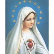 """Immaculate Heart of Mary High Quality Print cm.20x25- 8""""x10"""""""