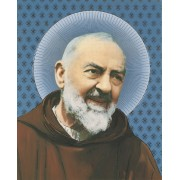 """Padre Pio High Quality Print with Gold cm.20x25- 8""""x10"""""""