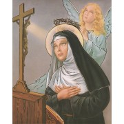 "St.Rita High Quality Print with Gold cm.20x25- 8""x10"""