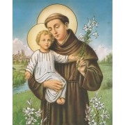 "St.Anthony High Quality Print with Gold cm.20x25- 8""x10"""