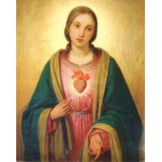 "Immaculate Heart of Mary High Quality Print cm.20x25- 8""x10"""