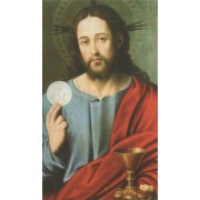 "Jesus Communion Holy Card Blank cm.7x12 - 2 3/4"" x 4 3/4"""