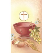 "Communion Symbol Holy Card Blank cm.7x12 - 2 3/4"" x 4 3/4"""