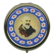 Padre Pio Gold Plated Metal Pyx mm.60- 2 1/2""