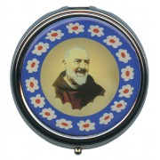 Padre Pio Silver Plated Metal Pyx mm.60- 2 1/2""