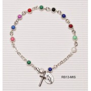 Silver Plated Rosary Bracelet Missionary
