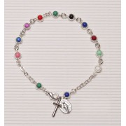 Rosary Bracelet Silver Plated Missionary