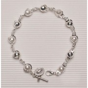 Silver Plated Rosary Bracelet