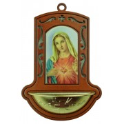 "Immaculate Heart of Mary Brown Water Font cm.9x13 - 3 1/2""x5"""