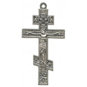 Orthodox Oxidized Metal Crucifix cm.8.5 - 3 1/2""