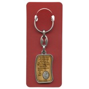 "St.Michael Prayer Keychain cm.3.8x2.5 - 1 1/2""x 1"" English"