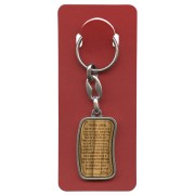 "Our Father Prayer Keychain cm.3.8x2.5 - 1 1/2""x 1"" French"