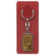"St.Christopher Prayer Keychain cm.3.8x2.5 - 1 1/2""x 1"" English"