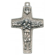 Good Shepherd/ Pope Francis Oxidized Crucifix cm.4 - 1 1/2""