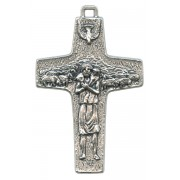 Good Shepherd/ Pope Francis Oxidized Crucifix cm.5 - 2""