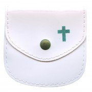 "Rosary Pouch White cm.8x8- 3 1/4""x 3 1/4"""