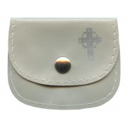 "Small Rosary Pouch Natural cm.7x5- 2 3/4"" 2 1/4"""