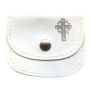 "Small Rosary Pouch White cm.7x5- 2 3/4"" 2 1/4"""