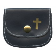 "Small Rosary Pouch Blue cm.7x5- 2 3/4"" 2 1/4"""