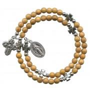 Olive Round Bead Wrap a Round Bracelet