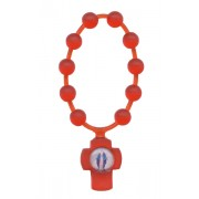 Red Flexible Plastic Scented Decade Rosary mm.5