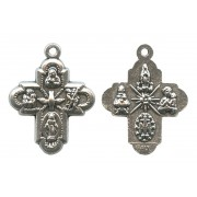 Cross 4 Way Silver Plated mm.20 - 3/4""