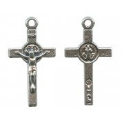 St.Benedict Crucifix Silver Plated mm.20 - 3/4""