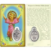 "Prayer to/ Baby Jesus Prayer Card with Medal cm.8.5 x 5 - 3 1/4"" x 2"""