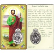 "Prayer to/ St.Jude Prayer Card with Medal cm.8.5 x 5 - 3 1/4"" x 2"""