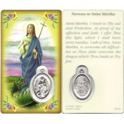 "Prayer to/ St.Martha Prayer Card with Medal cm.8.5 x 5 - 3 1/4"" x 2"""