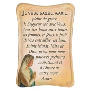 "Hail Mary Mini Standing Plaque French cm.7x10 - 3""x4"""