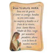 "Hail Mary Mini Standing Plaque Spanish cm.7x10 - 3""x4"""