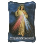 "Divine Mercy Mini Standing Plaque French cm.7x10 - 3""x4"""
