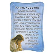 "Our Father Mini Standing Plaque Spanish cm.7x10 - 3""x4"""