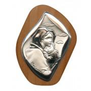 "Ferruzzi Silver Laminated Plaque cm.6.5x5 - 2 1/2""x2"""