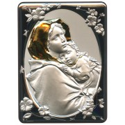 "Ferruzzi Silver Laminated Plaque cm.16.5x21.5- 6 1/2""x 8 1/2"""