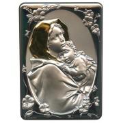 "Ferruzzi Silver Laminated Plaque cm.10x14 - 4""x 5 1/2"""