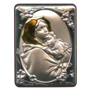 "Ferruzzi Silver Laminated Plaque cm.5x6.5 - 2""x2 1/2"""