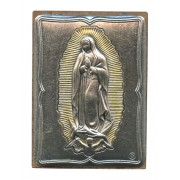 "Guadalupe Pewter Picture cm. 5.5x4.2- 2 1/8""x 1 1/2"""