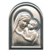 """Mother and Child Plaque with Stand Mother of Pearl Frame cm.6x4.5 - 2 1/4""""x 1 3/4"""""""