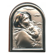 "Ferruzzi Plaque with Stand Brown Frame cm.6x4.5 - 2 1/4""x 1 3/4"""