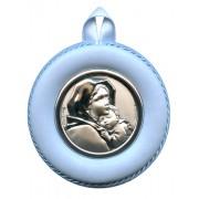 "Crib Medal Ferruzzi Blue cm.8.5- 3 1/4"""