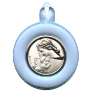 """Crib Medal Mother and Child Blue cm.8.5- 3 1/4"""""""